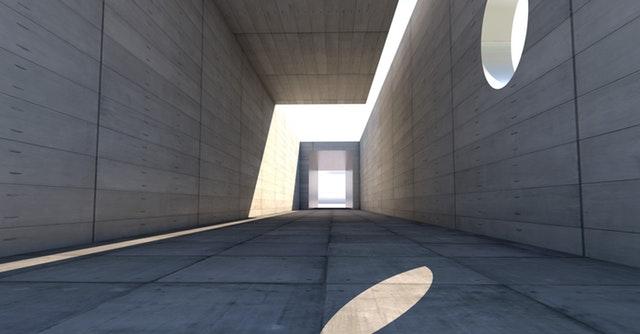 stavba z betonu, architektura