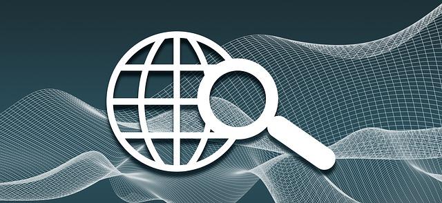 znázornění internetového vyhledávače