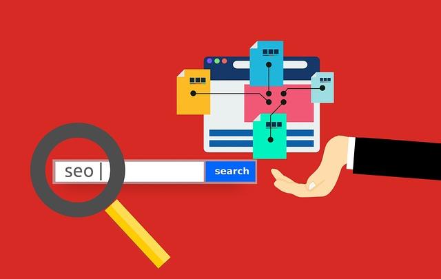 nápis SEO v internetovém vyhledávači